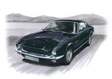 Aston Martin AMV8. Illustration of an Aston Martin AMV8 stock illustration