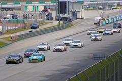 Aston Martin Azië het Ras van de Kop Stock Afbeeldingen