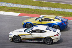Aston Martin Azië het Ras van de Kop Stock Foto's