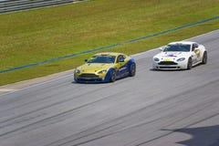 Aston Martin Azië het Ras van de Kop Stock Fotografie