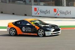 Aston Martin Azië Kop 2008 in de Grand Prix van Singapore Stock Afbeelding