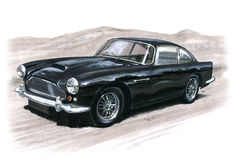 Aston Martin DB4 Stockfotos