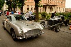 Aston Martin DB5 alla bandiera 2017 dell'argento di Vernasca Immagine Stock Libera da Diritti