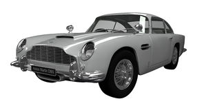 Aston Martin DB5. 3d rendered model depicting the Aston Martin DB5 on a white background Stock Photo