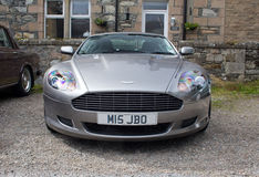 Aston Martin DB9 front grille Stock Photos