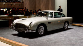 Aston Martin DB5 in Genf 2016 Lizenzfreie Stockfotos