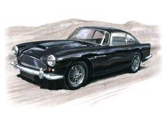 Aston Martin DB4. Illustration of an Aston Martin DB4 vector illustration