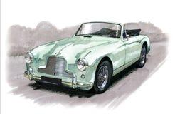 Aston Martin DB2/4. Illustration of an Aston Martin DB2/4 stock illustration