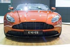 Aston Martin DB11, nieuwe 600bhp tweeling-turbogt Stock Afbeelding