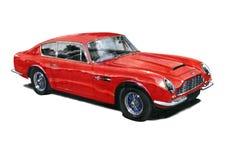 Aston Martin DB6 vector illustratie