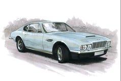 Aston Martin DBS. Illustration of an Aston Martin DBS stock illustration