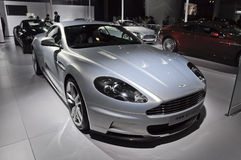 Aston Martin DBS sport car. In its exhibition hall,in 2010 international Auto-show GuangZhou. it is from 20/12/2010 to 27/12/2010. photo taken on 25 Dec. 2010 Royalty Free Stock Photos
