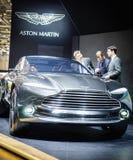 Aston Martin DBX pojęcie, Motorowy przedstawienie Geneve 2015 Obraz Royalty Free