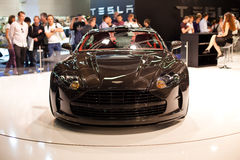 Aston Martin details on 63rd IAA Stock Photography