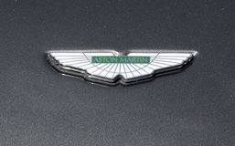 Aston Martin emblem Arkivbild