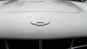 Aston martin emblem on rare model Royalty Free Stock Photography