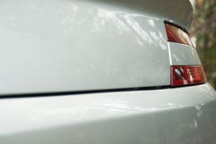 Aston Martin English Vantage Grand Tourer baksidadel Arkivbild