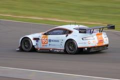 ASTON MARTIN GTE AM przy Silverstone zdjęcia stock
