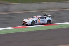 ASTON MARTIN GTE AM in Silverstone 2014 Royalty-vrije Stock Afbeelding
