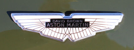 Aston Martin Hood Badge Royaltyfria Foton