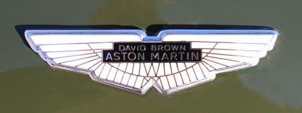 Aston Martin kapiszonu odznaka zdjęcia royalty free