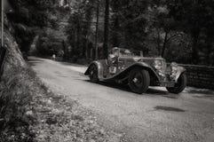 ASTON MARTIN 15/98 KORTA CHASSI 1937 arkivfoto