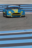 Aston-Martin. LE CASTELET, FRANCE, March 28, 2015 : Aston-Martin Vantage grand tourisme during the training sessions for World Endurance Car Championship, before Royalty Free Stock Photos