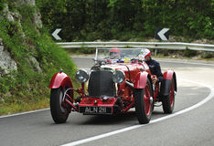 ASTON MARTIN Le Mans (1933). Attends the mille miglia historic race on May 21 2012,  The rally will feature over 380 classic cars travelling 1000 miles (appx Royalty Free Stock Photo