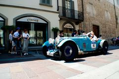 Aston Martin Le Mans in Mille Miglia 2016 Royalty-vrije Stock Foto