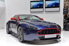 Aston Martin N430 at the 2014 Geneva Motorshow. The new 2014 Aston Martin N430 at the 2014 Geneva Motorshow Royalty Free Stock Photo