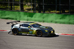 Aston Martin Racing V8 Vantage GTE test at Monza Royalty Free Stock Photo