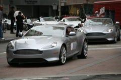 Aston martin rally in San Francisco Stock Photos