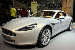Aston Martin Rapide bij de Show van de Motor 2010, Genève Royalty-vrije Stock Foto's