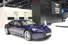 Aston Martin Rapide S car on display Royalty Free Stock Photos