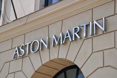 Aston Martin sign - Munich, Germany Royalty Free Stock Photos