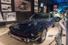 Aston Martin AM V8 1975 at the exhibition in the King Abdullah II car museum in Amman, the capital of Jordan. Amman, Jordan, December 07, 2018 : Aston Martin AM royalty free stock image