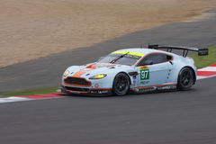 Aston Martin V8 Vantage GTE Pro competing at the 6 Hours of Silverstone stock images