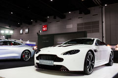 The Aston Martin V12 Vantage S. Bangkok, Thailand.-August 17 : The Aston Martin V12 Vantage S on  display in the Big Motor Sale 2014 at Bangkok international Royalty Free Stock Photography
