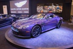 Aston Martin V12  Vantage S on display Royalty Free Stock Photos