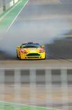 Aston Martin V8 Vantage Braking Hard Stock Image