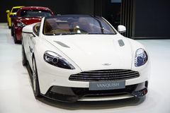 Aston Martin Vanquish car on display at The 36 th Bangkok Intern Stock Image
