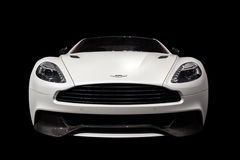 Aston Martin Vanquish-Isolated on Black Royalty Free Stock Photography