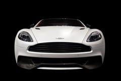 Aston Martin Vanquish-Isolated sul nero Fotografia Stock Libera da Diritti