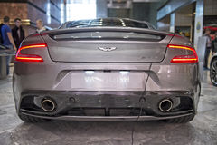 Aston martin vanquish rear view Royalty Free Stock Photo