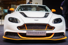 Aston Martin Vantage GT3, Motor Show Geneve 2015. Stock Photo