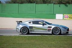 Aston Martin Vantage GT4 RACERBIL Royaltyfria Bilder