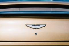 Aston Martin vence el coche Foto de archivo