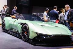 Aston Martin Vulcan, Motorshow Geneve 2015 Royalty-vrije Stock Afbeeldingen