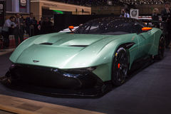 2015 Aston Martin Vulcan. Presented the 85th International Geneva Motor Show Royalty Free Stock Photos