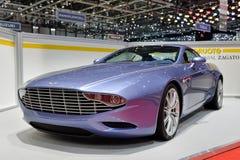 Aston Martin Zagato en el salón del automóvil de Ginebra  imagen de archivo libre de regalías